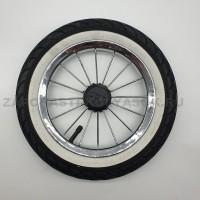 Колесо надувное со спицами размер 12 дюймов с белой полосой