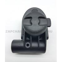 Блок крепление поворотного колеса тип 11 (ось 10 мм, труба 20/30 мм) Правый