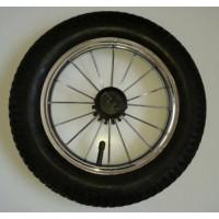 Колесо надувное со спицами размер 12 дюймов для Польских колясок (Lonex, Roan, Jedo, Tako, ) Хромированный диск