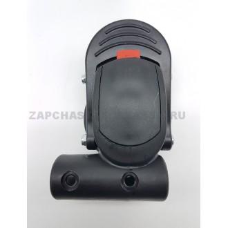 Блок крепление поворотного колеса тип 4 (ось12 мм, труба 20х30 мм)