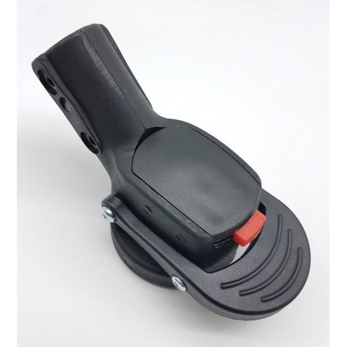 Блок крепление поворотного колеса тип 5 (ось 12 мм, труба 20х30 мм)