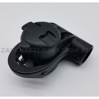 Блок крепление поворотного колеса тип 11 (ось 10 мм, труба 20/30 мм)