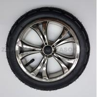 Колесо надувное 12 дюймов для польских колясок (EOS) тип 2 хром