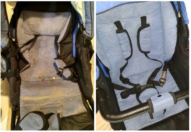 фото до и после химчистки коляски