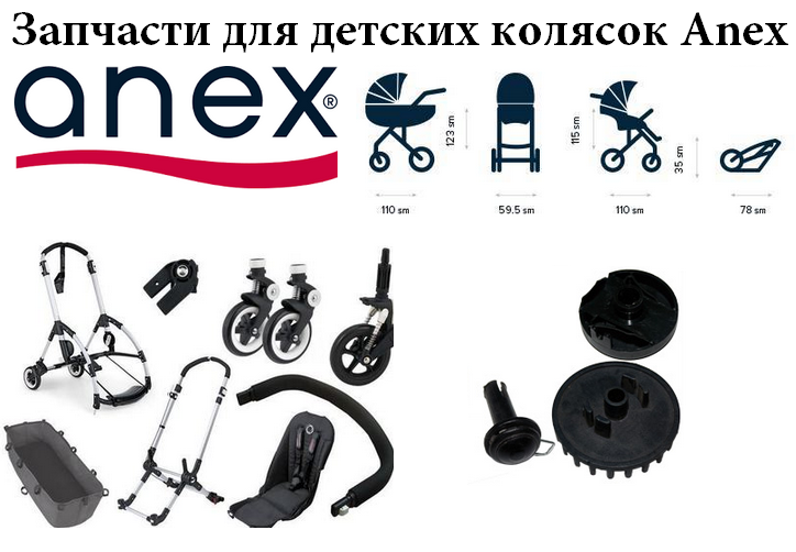 запчасти для детских колясок Anex