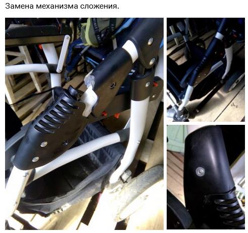 фото сломанного механизма складывания
