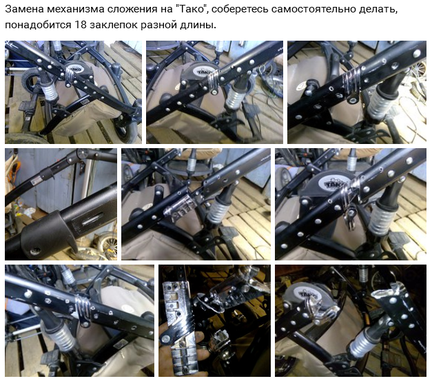 фото механизмов сложения коляски